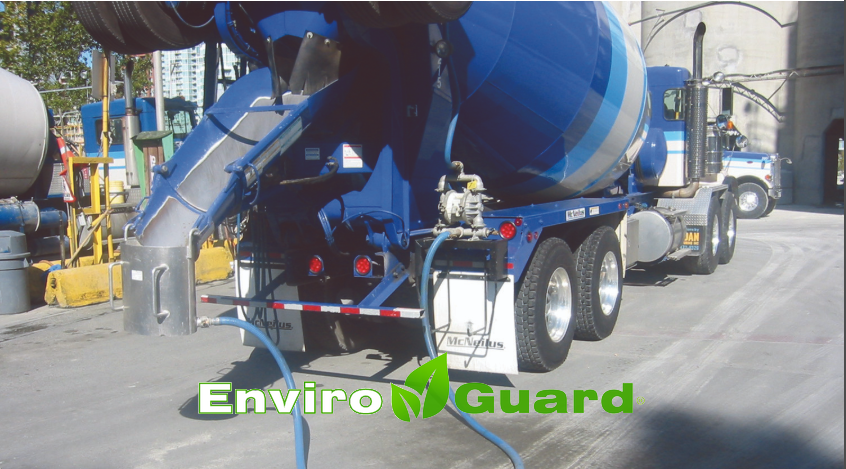 Enviro Guard on stand mix truck