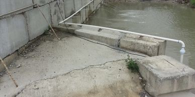 waste water debris